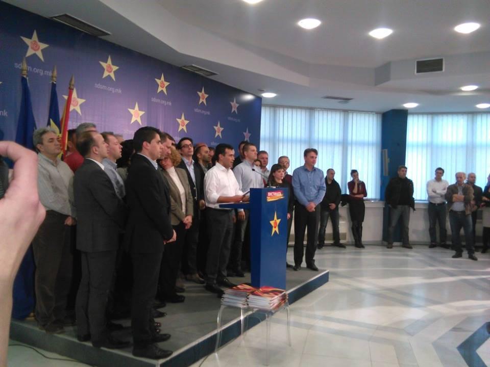 СДСМ  Во новата влада не смеат да седнат обвинети криминалци