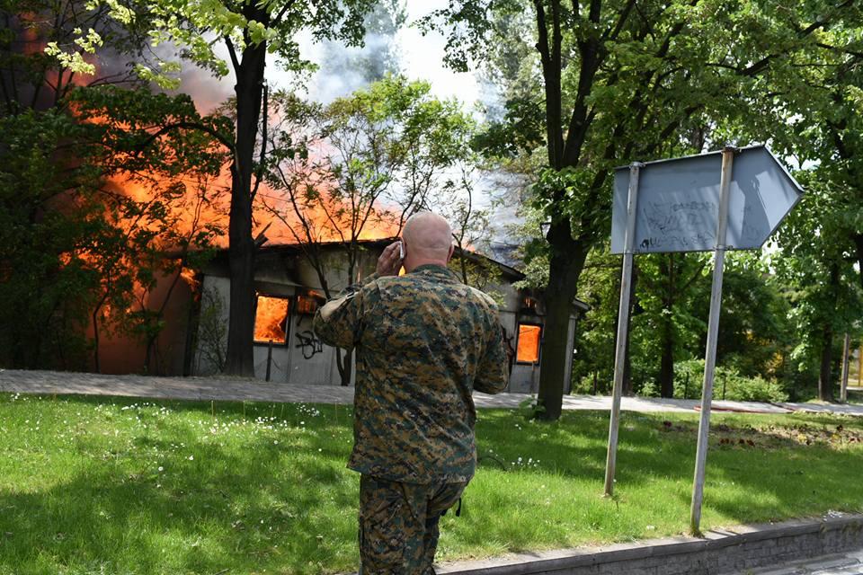 Пожар во Институтот за социолошки истражувања