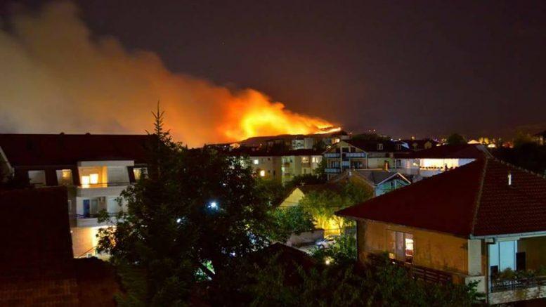 Голем пожар над Кондово  паника во селото и евакуација