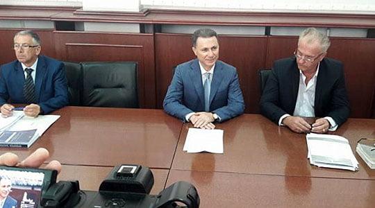 Груевски задоцни 15 минути на судското рочиште за  кинеските провизии