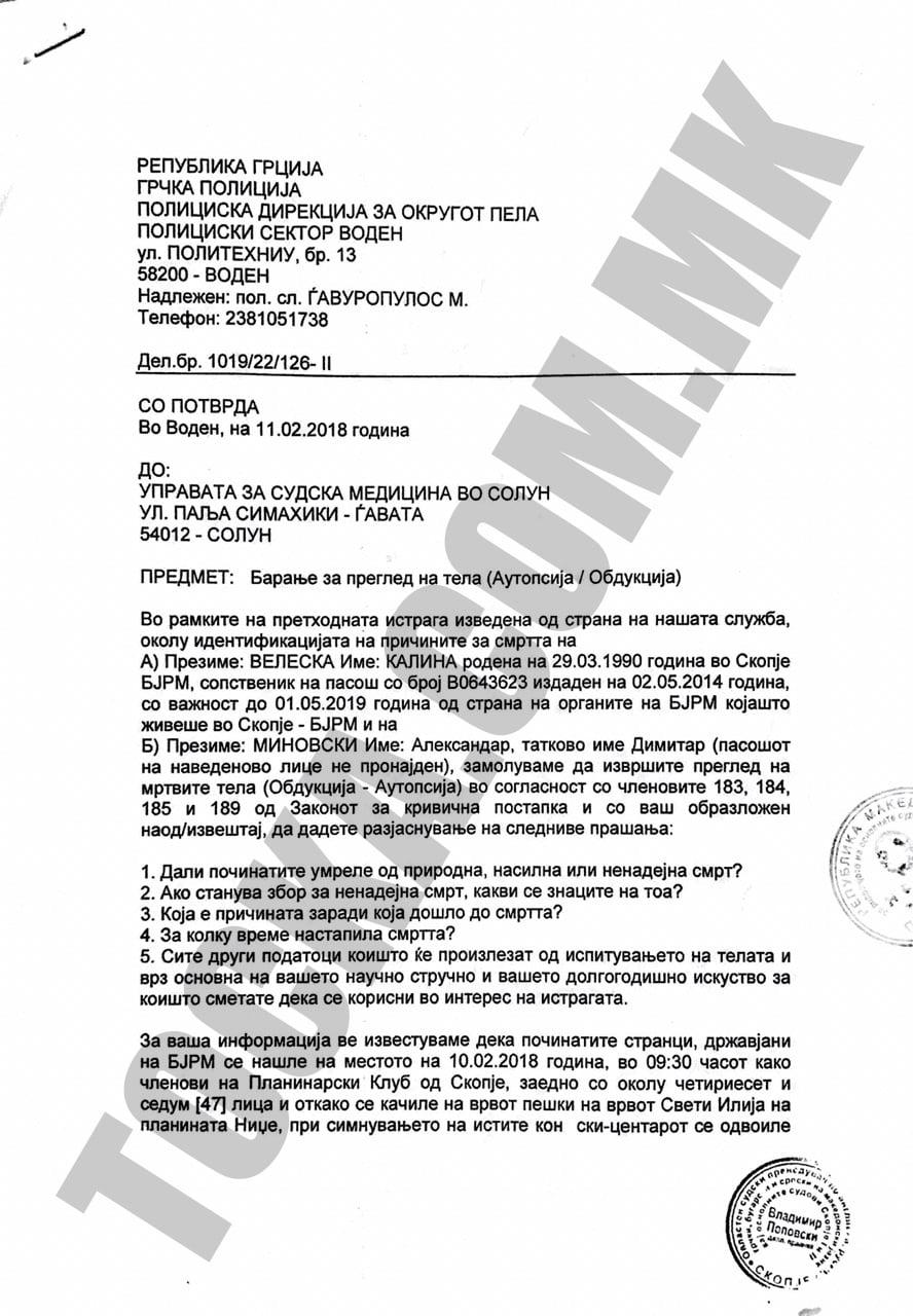 Целиот извештај од грчката полиција за трагедијата на Кајмакчалан: Александар сам се откачил од јажето!?